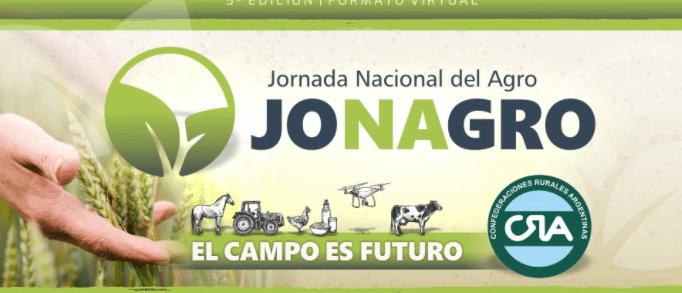 Llega la 5° Edición de la Jornada Nacional del Agro (Jonagro): 11 y 12 de noviembre de manera virtual.